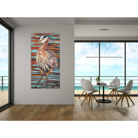 Image of 'Watchful Heron II' by Carolee Vitaletti, Giclee Canvas Wall Art