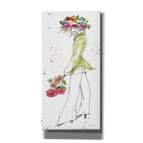 Image of 'Floral Figures VII' by Anne Tavoletti, Canvas Wall Art,30 x 60