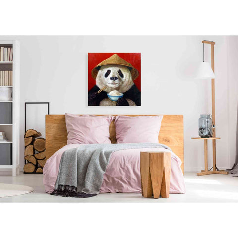 'Panda' by Lucia Heffernan, Canvas Wall Art,37 x 37