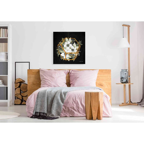 Image of 'Gold Geometric Hexagon' by Cindy Jacobs, Giclee Canvas Wall Art