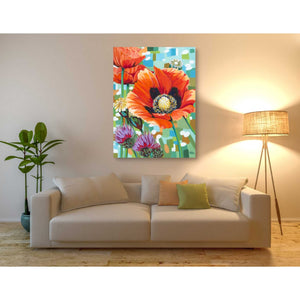 'Vivid Poppies II' by Carolee Vitaletti, Giclee Canvas Wall Art