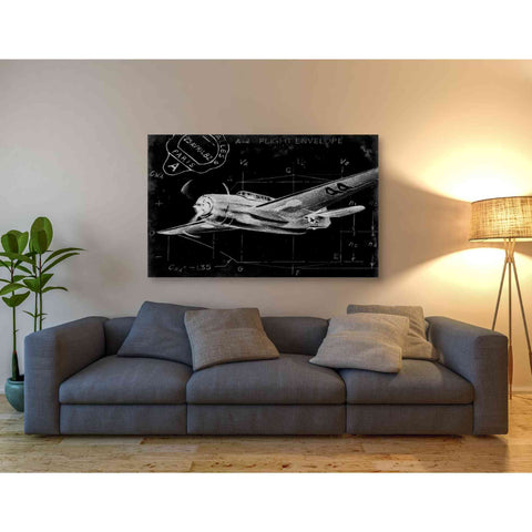 'Flight Schematic II' by Ethan Harper Giclee Canvas Wall Art