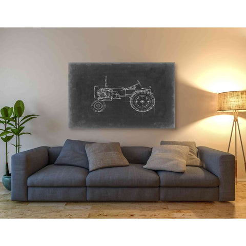 'Tractor Blueprint III' by Ethan Harper Giclee Canvas Wall Art