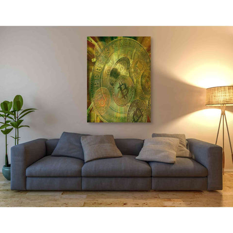 'Grunge Bitcoin' by Steve Hunziker, Giclee Canvas Wall Art