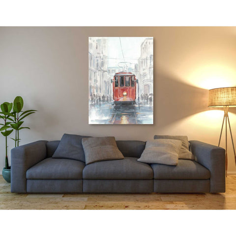 'Watercolor Streetcar Study I' by Ethan Harper Giclee Canvas Wall Art