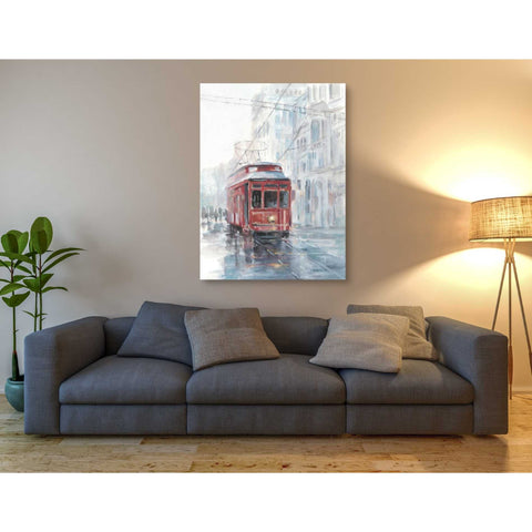 'Watercolor Streetcar Study II' by Ethan Harper Giclee Canvas Wall Art