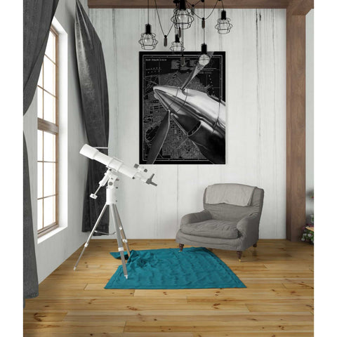 Image of 'Vintage Plane II' by Ethan Harper Canvas Wall Art,40 x 54