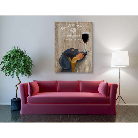 'Dog Au Vin Dachshund' by Fab Funky, Canvas Wall Art,40 x 54