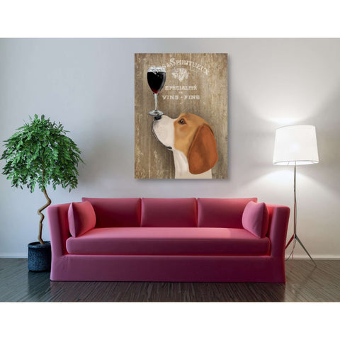 'Dog Au Vin Beagle' by Fab Funky, Giclee Canvas Wall Art