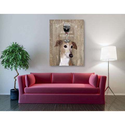 'Dog Au Vin Greyhound' by Fab Funky, Giclee Canvas Wall Art