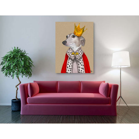 'Greyhound Queen' by Fab Funky, Giclee Canvas Wall Art