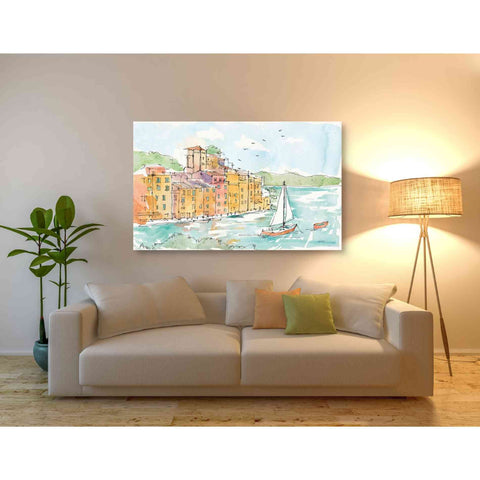 Image of 'Portofino II' by Anne Tavoletti, Giclee Canvas Wall Art