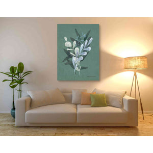 'Watercolor Greenery Series Dark II' by Bluebird Barn, Canvas Wall Art,40 x 54