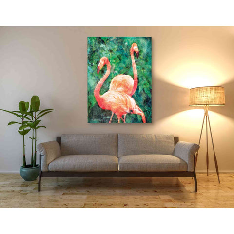 Image of 'Flamingos' by Bluebird Barn, Canvas Wall Art,40 x 54