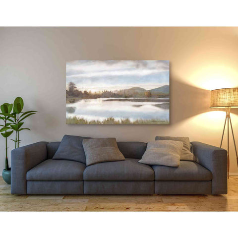 Image of 'Lakeview Sunset Landscape' by Bluebird Barn, Canvas Wall Art,54 x 40