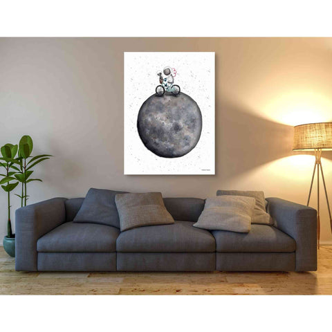'Bike on Moon' by Rachel Nieman, Giclee Canvas Wall Art