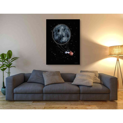 'Moon Hot Air Balloon' by Rachel Nieman, Giclee Canvas Wall Art