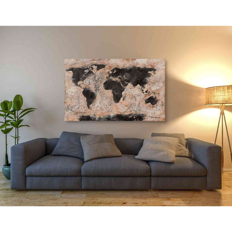 Image of 'Old World Map' by Britt Hallowell, Canvas Wall Art,54 x 40