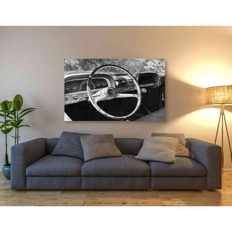 'Chevy Steering Wheel' by Lori Deiter, Giclee Canvas Wall Art