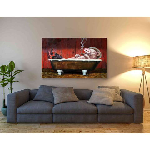 Image of 'Hog Heaven' by Lucia Heffernan, Canvas Wall Art,54 x 40