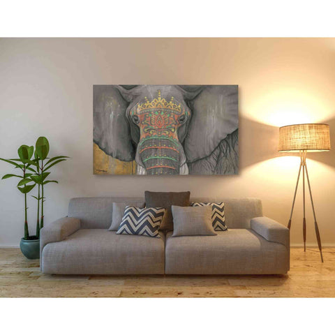 Image of 'Tattooed Elephant' by Britt Hallowell, Canvas Wall Art,54 x 40