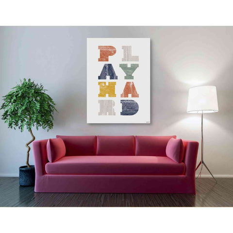 Image of 'Play Hard' by Kyra Brown, Canvas Wall Art,40 x 54