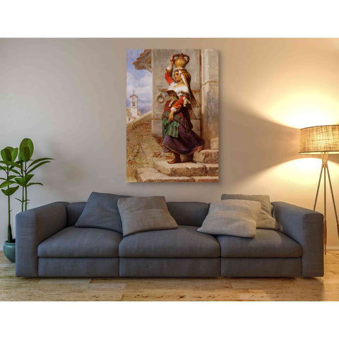 'A Roman Water Carrier' by Carl Haag, Canvas Wall Art,40 x 60