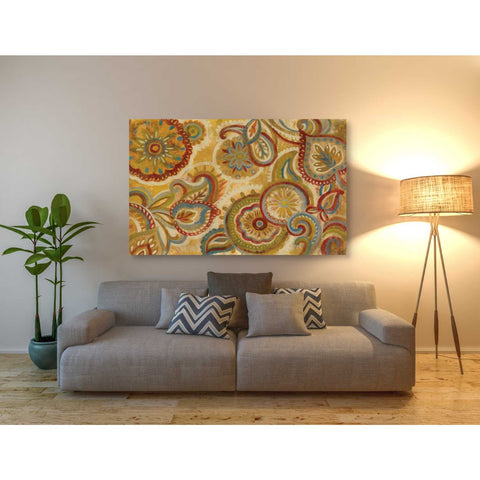 """Mandala and Paisley"" by Silvia Vassileva, Giclee Canvas Wall Art"