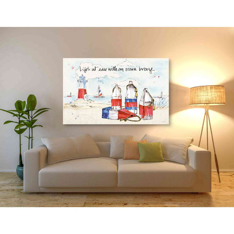 Image of 'Coastal Buoys II' by Anne Tavoletti, Giclee Canvas Wall Art