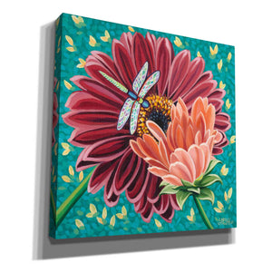 'Dragonfly on Blooms II' by Carolee Vitaletti, Giclee Canvas Wall Art