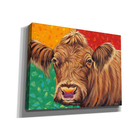 Image of 'Colorful Country Cows II' by Carolee Vitaletti, Giclee Canvas Wall Art