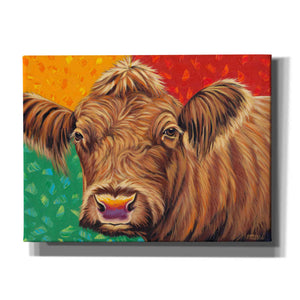 'Colorful Country Cows II' by Carolee Vitaletti, Giclee Canvas Wall Art