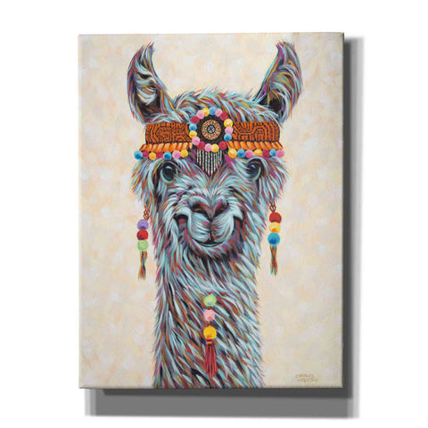 Image of 'Hippie Llama I' by Carolee Vitaletti, Giclee Canvas Wall Art