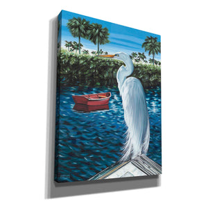 'Peaceful Heron II' by Carolee Vitaletti, Giclee Canvas Wall Art