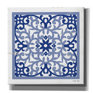 'Blue Tile V' by Cindy Jacobs, Giclee Canvas Wall Art