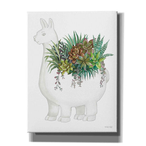 Image of 'Proud Llama Pot II' by Cindy Jacobs, Giclee Canvas Wall Art