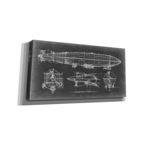 Image of 'Airship Blueprint' by Ethan Harper Giclee Canvas Wall Art