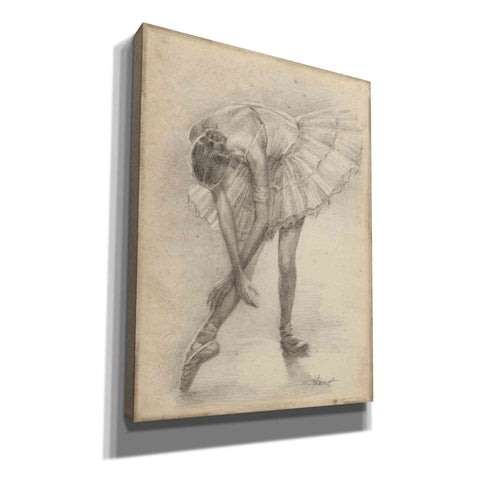 'Antique Ballerina Study II' by Ethan Harper Canvas Wall Art,Size C Portrait