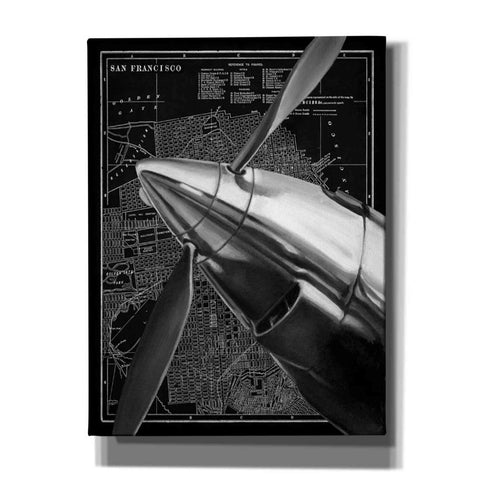 Image of 'Vintage Plane II' by Ethan Harper Canvas Wall Art,Size B Portrait