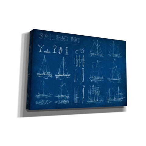 'Sailing Infograph' by Ethan Harper Canvas Wall Art,Size A Landscape