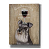 'Dog Au Vin, Schnauzer' by Fab Funky, Giclee Canvas Wall Art