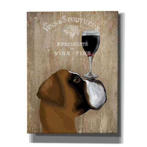 'Dog Au Vin Boxer' by Fab Funky, Giclee Canvas Wall Art