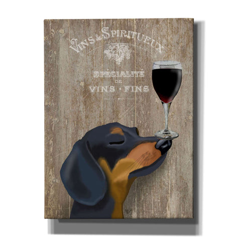 'Dog Au Vin Dachshund' by Fab Funky, Canvas Wall Art