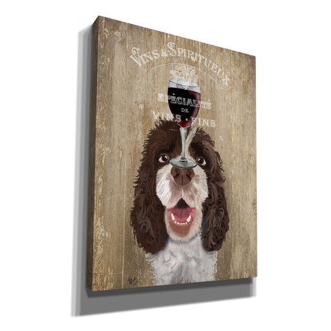 'Dog Au Vin, Springer Spaniel' by Fab Funky, Giclee Canvas Wall Art