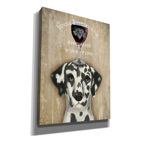 'Dog Au Vin Dalmatian' by Fab Funky, Giclee Canvas Wall Art