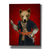 'Bear in Blue Robes' by Fab Funky, Giclee Canvas Wall Art