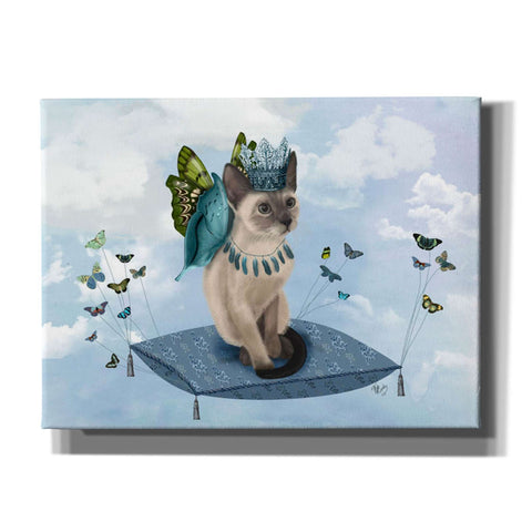 'Cat on Pillow with Butterflies' by Fab Funky, Giclee Canvas Wall Art