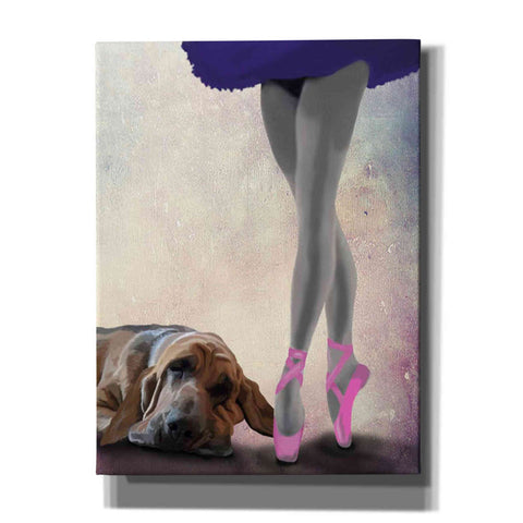 'Bloodhound And Ballet Dancer' by Fab Funky Giclee Canvas Wall Art