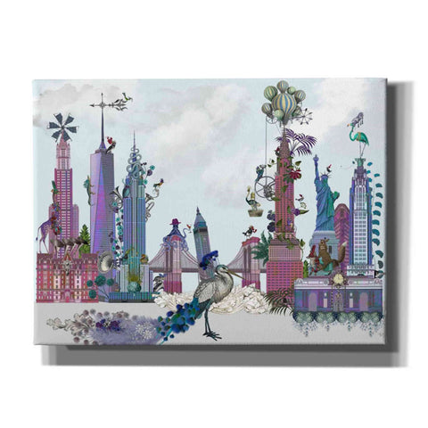 'New York City, Menagerie' by Fab Funky Canvas Wall Art