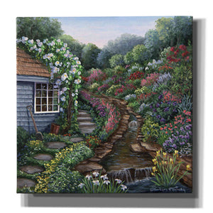 'Cottage with Rock Garden' by Barbara Felisky, Giclee Canvas Wall Art